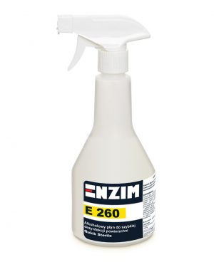 E260 – Alkoholowy płyn do szybkiej dezynfekcji powierzchni bez spłukiwania