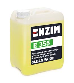 E 355 – koncentrat do codziennego mycia podłóg i mebli drewnianych oraz paneli CLEAN WOOD