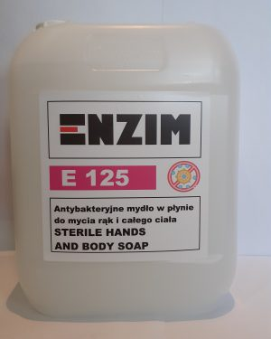 Enzim E 125 Antybakteryjne mydło w płynie do mycia rąk i całego ciała Sterile Hands and Body Soap