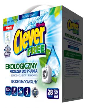 Clever FREE – ekologiczny hipoalergiczny proszek do prania 1,68 kg