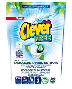 Clever FREE DuoCaps – kapsułki do prania ekologiczne